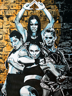 Purchase MMA Four Horsewomen painting by Rob Schamberger