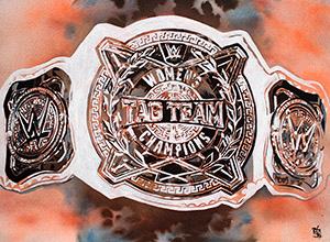 Purchase Women's Tag Team Championship painting by Rob Schamberger