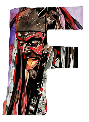 Purchase F is For... Limited Edition print by Rob Schamberger