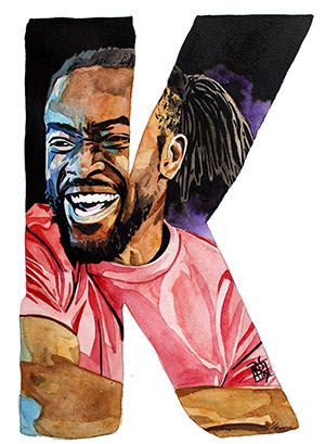 Purchase K is For painting print by Rob Schamberger