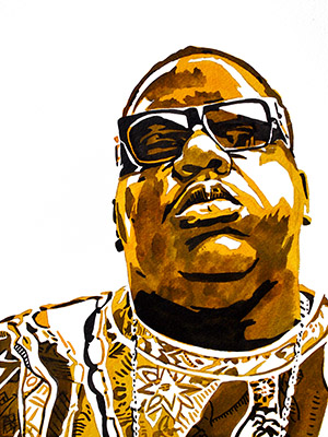 Purchase Notorious BIG painting by Rob Schamberger