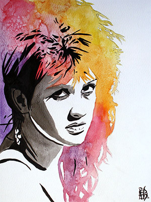 Purchase Cyndi Lauper painting by Rob Schamberger