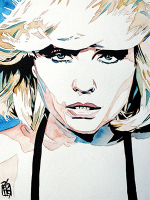Purchase Debbie Harry painting by Rob Schamberger