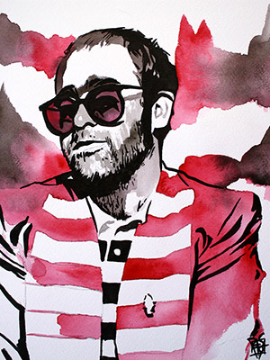 Purchase Elton John painting by Rob Schamberger