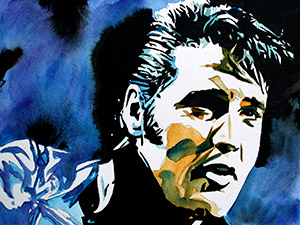Purchase Elvis Presley painting by Rob Schamberger