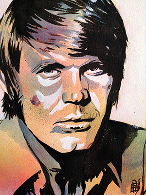 Purchase Glen Campbell painting by Rob Schamberger