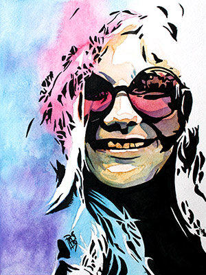 Purchase Janis Joplin painting by Rob Schamberger
