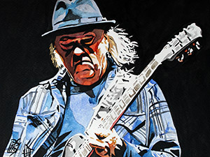 Purchase Neil Young painting by Rob Schamberger