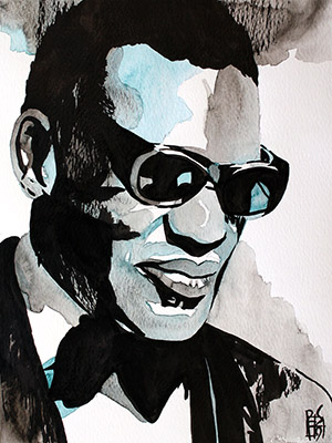 Purchase Ray Charles painting by Rob Schamberger