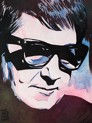 Purchase Roy Orbison painting by Rob Schamberger