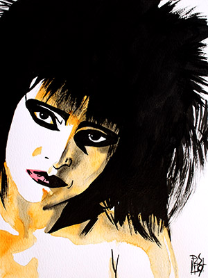 Purchase Siouxsie Sioux painting by Rob Schamberger