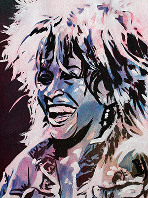 Purchase Tina Turner painting by Rob Schamberger