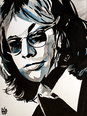 Purchase Warren Zevon painting by Rob Schamberger