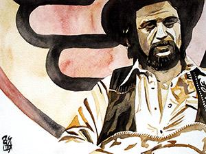 Purchase Waylon Jennings painting by Rob Schamberger