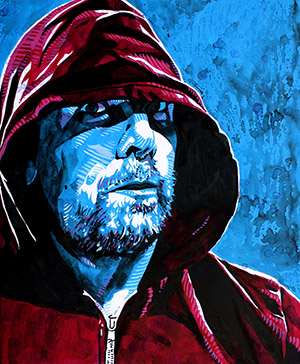 Purchase Hooded Daniel Bryan painting by Rob Schamberger